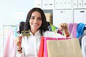 Rich female shopaholic