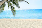 Sand beach and tropical sea.