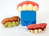 Humorous dental hygiene concept