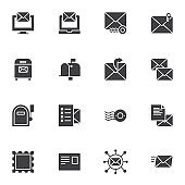 Post service vector icons set