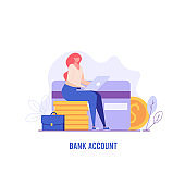 Concept of bank illustration