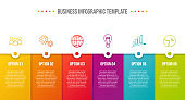 Business infograph with icons - chart template. Vector