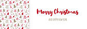 Christmas banner with trees and wishes. Vector