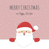 Christmas card with Santa Claus and wishes. Vector