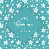 Christmas card with stars and wishes. Vector