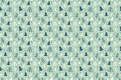 Christmas background with hand drawn trees. Xmas pattern. Vector