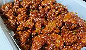 Korean food, crunchy Korean fried chicken