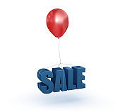 Balloon with SALE Word - 3D Rendering