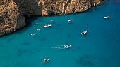 Famous beach Navagio, Zakynthos island, Greece