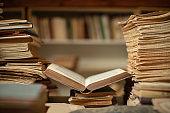 Vintage library still life