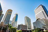 City Buildings in the Brickell Financial District of Miami Florida