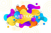 Unique design with dynamic liquid shapes. Colorful fluid style background for landing page, web banner, wallpaper. Bright composition with gradients, wavy pattern with header