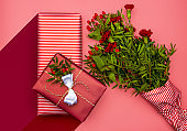 Present and flowers for a loved one
