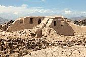 Los Paredones - historic ruins of incan castle in Nazca