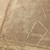 Spider geoglyph, Nazca mysterious lines and geoglyphs