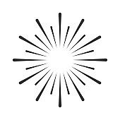 Firework vector icon. Firework icon isolated on white background. Firework symbol for logo, web, app.