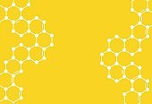 Yellow Honeycomb Background. Vector Illustration of Geometric Hexagons.