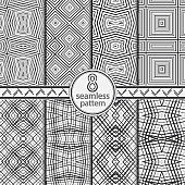 Seamless set vector patterns.