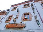 The pub at old town Tossa de Mar in Costa Brava of Catalonia