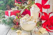 White cheesecake hot chocolate