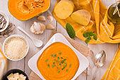 Pumpkin cream soup.