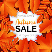 Gloden leaves autumn sale poster