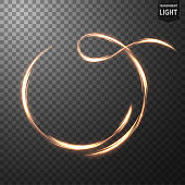 Glowing Ring on transparent background, Abstract light speed motion effect