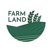 Farm House concept logo full vector illustration.