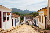 streets of the city of tiradentes in Minas Gerais, Brazil