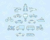 Transportation Icons set 02-03
