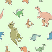 Dinosaurs background 01-05