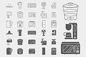 Home machines Icons set 02-06