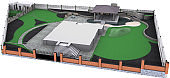 Site development plan isolated over white background, 3D render