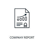 Company Report outline icon. Thin line concept element from risk management icons collection. Creative Company Report icon for mobile apps and web usage
