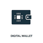 Digital Wallet icon. Creative element design from fintech technology icons collection. Pixel perfect Digital Wallet icon for web design, apps, software, print usage