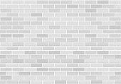 White brick wall seamless pattern. Vector illustration