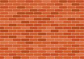 Brown brick wall seamless pattern. Vector illustration