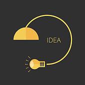 light bulb. Concept of vector banner for ideas