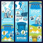 Environment and waste recycling, green ecology