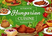 Hungary cuisine restaurant menu cover
