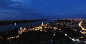 Panoramic view of Zemun, from Gardos Millennium tower at night
