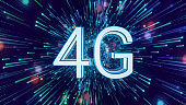 4G - Abstract Speed to Internet