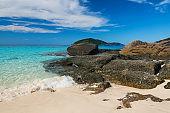 Beautiful seascape of similan island in summer