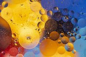 View of red, blue, orange, yellow colorful abstract design, texture. Beautiful backgrounds.