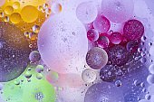 View of red, blue, purple, orange, yellow colorful abstract design, texture. Beautiful backgrounds.