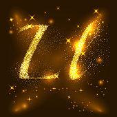 Alphabets L and l of gold glittering stars. Illustration vector