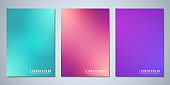 Blurred backgrounds for cover design, brochure layout, book, poster mockup, and flyer template. Colorful pattern, vibrant colors, fluid abstract, blended colours.