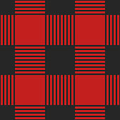 Vector template red plaid seamless pattern. Textile template.