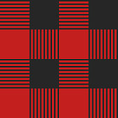 Template red plaid seamless pattern. Vector illustration. Red color. Textile template.