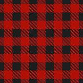 Lumberjack plaid seamless pattern. Vector illustration.